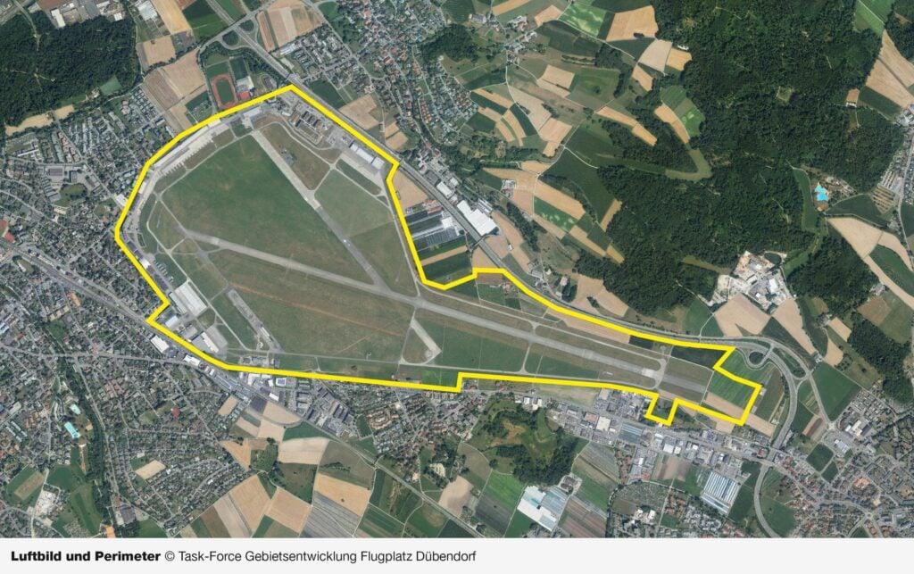 Luftbild und Perimeter